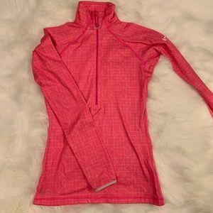 Nike Pro Pink Quarter Zip Small